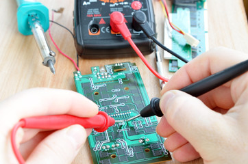 Test repair job on electronic printed circuit board