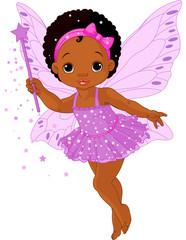 Foto auf Gartenposter Die magische Welt Cute little baby fairy