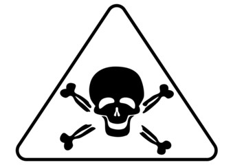 Attention poison sign