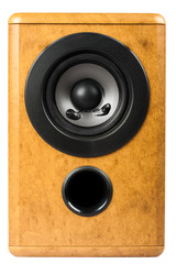 Audio speaker isolated on whtie background