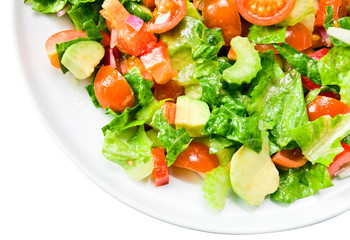 Salad from fresh vegetables, saved path