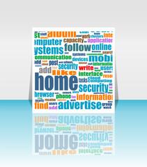Fotobehang Pixel Marketing communication world. icon or flyer