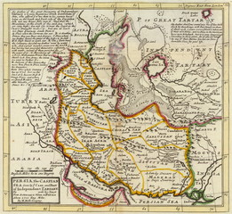 Persia (Iran) old map