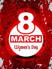 Elegant women's day background. vector illustration