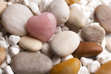 Rose quartz heart.