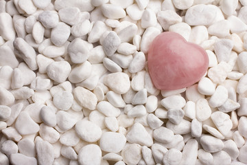 Rose quartz heart.