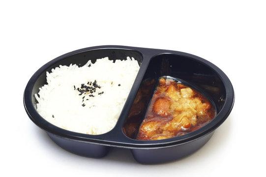 rice and teriyaki chicken - convenience food