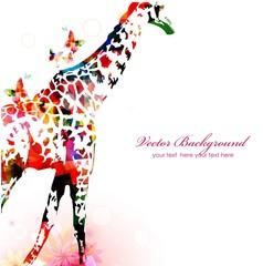 Giraffe silhouette background