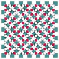 Tuinposter Psychedelic Optical illusion square