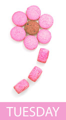 Colorful Cookie Flower in Seven Day Color Collection, Tuesday