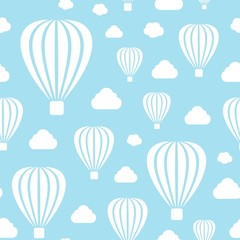 Vector illustration of seamless pattern with air-balloons