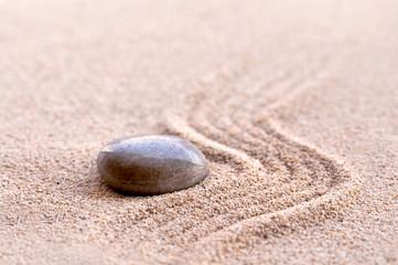 Acrylic Prints Stones in Sand Galet, sable zen