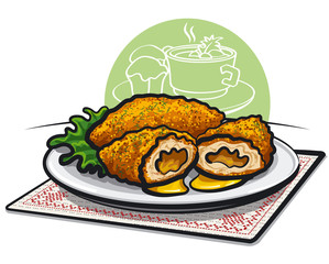 chicken kiev cutlet