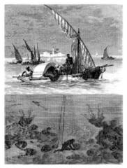 Traditional Africans : Fishing Sponges - Pêcheurs d'éponges