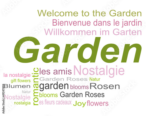 Garten Romantik Tag Cloud Wörter Stock Image And Royalty Free