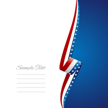 US right side brochure cover vector