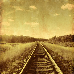 Vintage image of a railway.