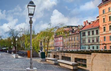 Набережная в центре Любляны