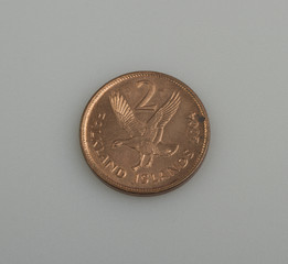 Two pence Falkland or Malvinas Islands.