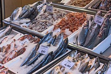Foto auf Acrylglas Fisch fish market