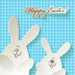 Happy Easter Ostern Karo Hasen Hares Rabbits Bunnies