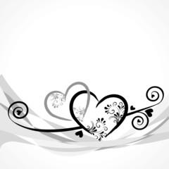 2 Herzen mit Ornamenten