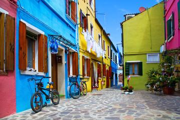 Venice, Burano island houses