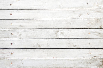 White painted wooden planks