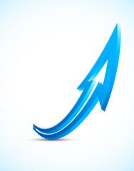 Bright blue arrow