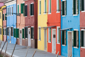 Colorful street of Burano