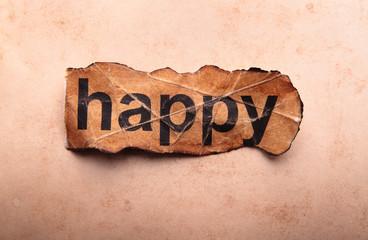 Word happy. Motivation