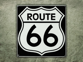 Route 66 sign on a vintage background
