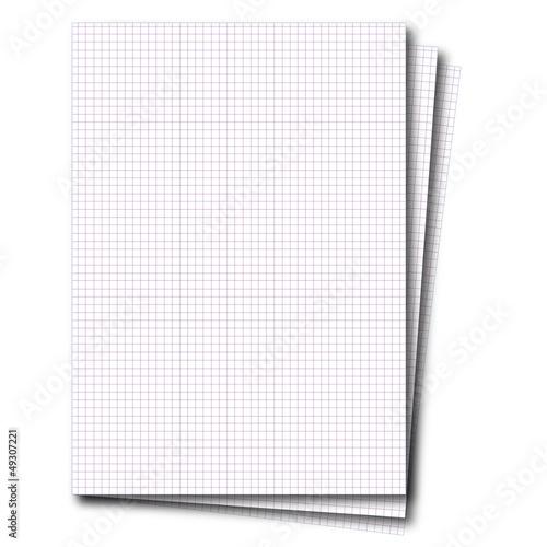 Feuille page petits carreaux fichier vectoriel libre de for Feuille a carreaux
