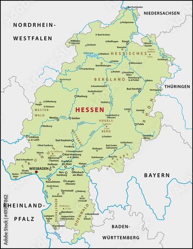 karte hessen Hessen Karte