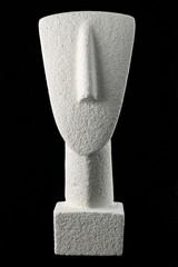 Cycladic figurine, sample of the Cycladic civilization in Greece
