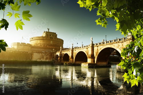 The Vatican Seen Past the Tiber River, Rome, Italy  № 1467666 без смс