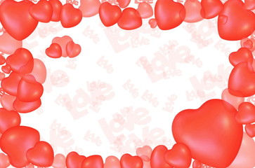 Valentine's Day Love Hearts Greeting card