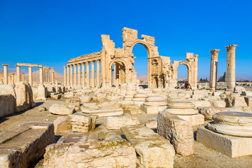 Ancient Roman time city in Palmyra, Syria.
