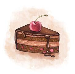 Illustration of a cherry cake