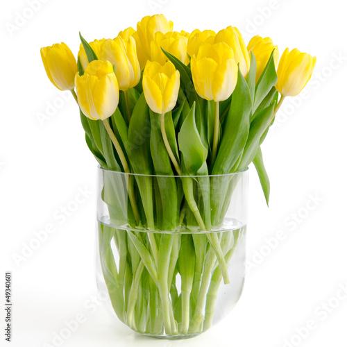 gelbe tulpen in einer vase stockfotos und lizenzfreie. Black Bedroom Furniture Sets. Home Design Ideas