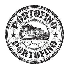 Portofino grunge rubber stamp