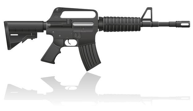 automatic machine M-16 vector illustration