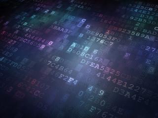 Technology concept: binary code digital background