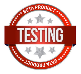 red stamp that shows the term beta testing