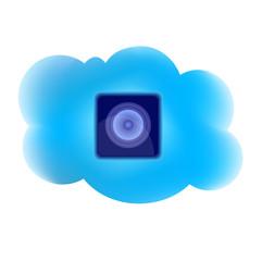 Clouding computing loudspeaker icon
