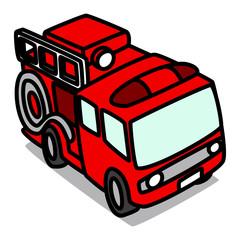 Cartoon Car 05 : Fire Truck