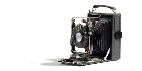 Old vintage bellows camera
