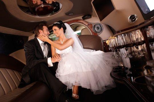 Happy couple on wedding-day