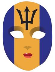 Mask flag Barbados