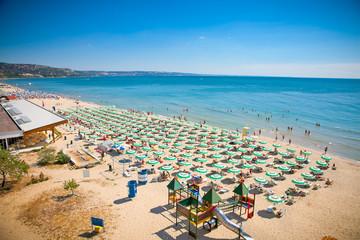 Panoramic view of Golden Sands beach, Bulgaria. Wall mural